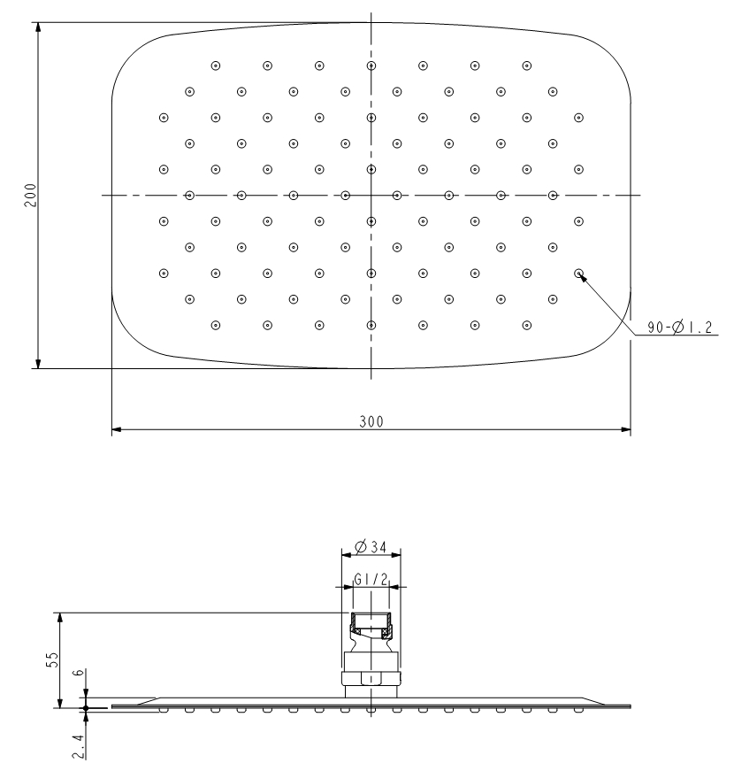 hansgrohe unterputz ecostat e thermostat duschset. Black Bedroom Furniture Sets. Home Design Ideas